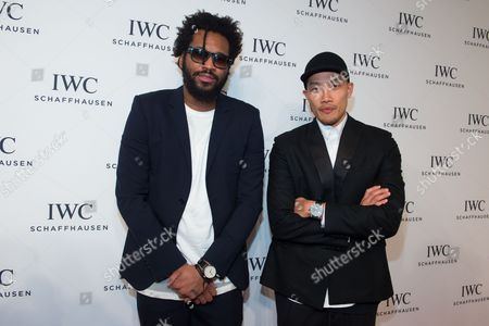 """Designers Maxwell Osborne and Dao-Yi Chow attend IWC Schaffhausen's """"For the Love of Cinema"""" Tribeca Film Festival gala dinner in New York. Osborne and Chow were nominated in the menswear category for the Council of Fashion Designers of America awards for Public School. They join fellow nominees Marcus Wainwright and David Neville for Rag & Bone, Tim Coppens, Thom Browne and Todd Snyder. The ceremony will take place June 6 in New York"""
