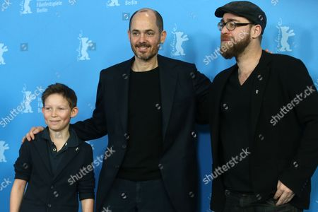 Actor Ivo Pietzcker, director Edward Berger and producer Jan Krueger pose for photographers at the photo call for the film Jack during the International Film Festival Berlinale in Berlin