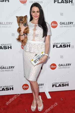 "Stock Image of Setorii Pond attends ""Flash by Lenny Kravitz"" Photo Exhibition at Leica Gallery, in West Hollywood, Calif"