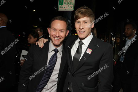 NOVEMBER 13: Producer Dan Jinks and Writer/Exec. Producer Dustin Lance Black at Focus Features' Los Angeles Premiere of 'MILK' on at Academy of Motion Pictures Arts and Sciences in Beverly Hills, CA