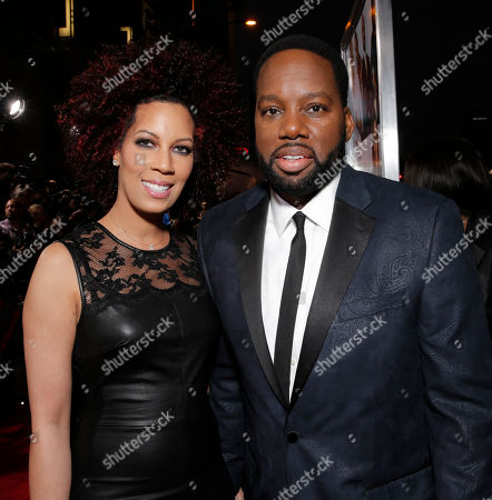 "Executive Producer Lyn Talbert and Director/Producer David Talbert attend Fox Searchlight's Los Angeles Premiere of ""Baggage Claim"", on in Los Angeles"