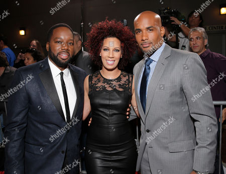 "Director/Producer David Talbert, Executive Producer Lyn Talbert and Boris Kodjoe attend Fox Searchlight's Los Angeles Premiere of ""Baggage Claim"", on in Los Angeles"