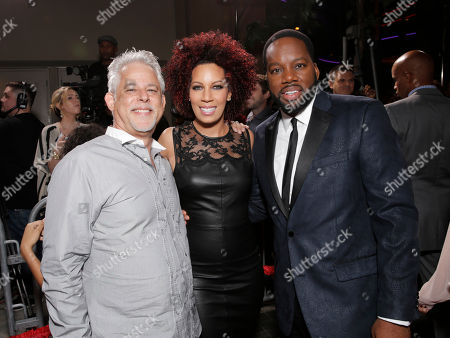 "Producer Steven Wolfe, Executive Producer Lyn Talbert and Director/Producer David Talbert attend Fox Searchlight's Los Angeles Premiere of ""Baggage Claim"", on in Los Angeles"