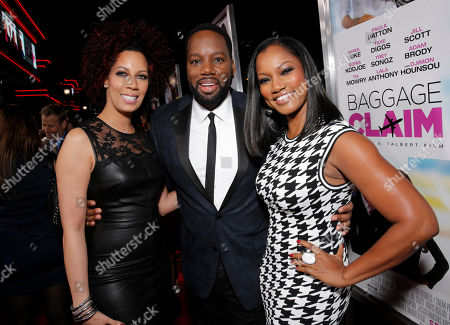 "Executive Producer Lyn Talbert and Director/Producer David Talbert and Garcelle Beauvais attend Fox Searchlight's Los Angeles Premiere of ""Baggage Claim"", on in Los Angeles"