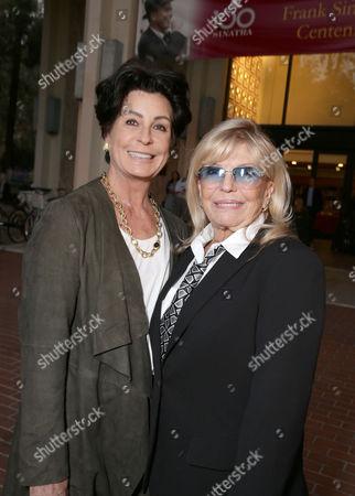 Exclusive - Tina Sinatra and Nancy Sinatra seen at Frank Sinatra's Centennial celebration at USC's School of Cinematic Arts, in Los Angeles, CA
