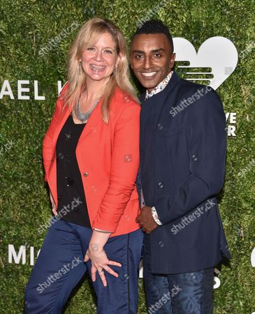 "Chefs Amanda Freitag and Marcus Samuelsson attend the ""God's Love We Deliver"" Golden Heart Awards at Spring Studios, in New York"