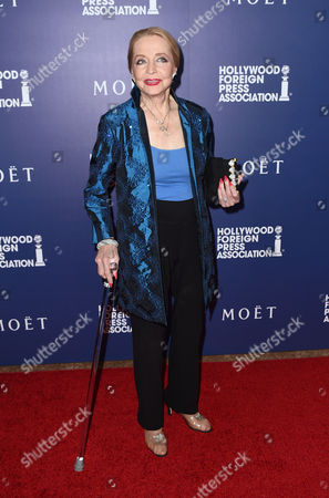 Anne Jeffreys arrives at the Hollywood Foreign Press Association's Grants Banquet at the Beverly Hilton hotel, in Beverly Hills, Calif