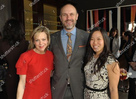 From left, Carol McColgin, Degen Pener, and Jessica Kolstad attend The Hollywood Reporter: THR Power of Style Luncheon, in Beverly Hills, Calif