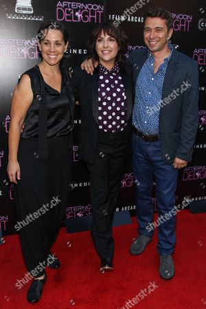 """Stock Picture of From left, producer Jennifer Chaiken, director/writer Jill Soloway, and producer Sebastian Dungan arrive at the premiere of """"Afternoon Delight"""" at the ArcLight Hollywood on in Los Angeles"""