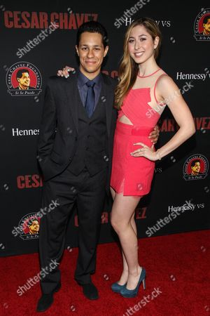 David Del Rio and Elizabeth Small attend the premiere of Pantelion Films and Participant Media's 'Cesar Chavez' at TCL Chinese Theatre on in Los Angeles