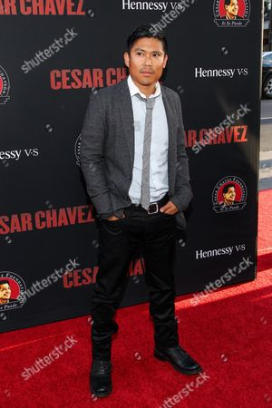 Darian Basco attends the premiere of Pantelion Films and Participant Media's 'Cesar Chavez' at TCL Chinese Theatre on in Los Angeles