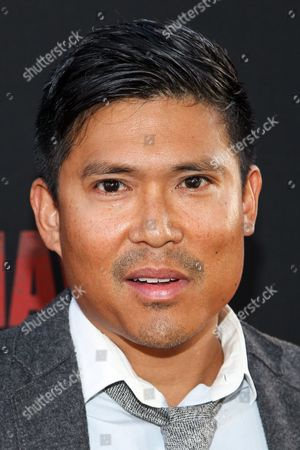 Stock Image of Darian Basco attends the premiere of Pantelion Films and Participant Media's 'Cesar Chavez' at TCL Chinese Theatre on in Los Angeles