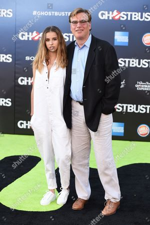 """Roxy Sorkin, left, and Aaron Sorkin arrive at the Los Angeles premiere of """"Ghostbusters"""" at the TCL Chinese Theatre on"""