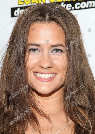 "Actress Katie Chonacas arrives at the premiere of ""Gutshot Straight"" on in Los Angeles"