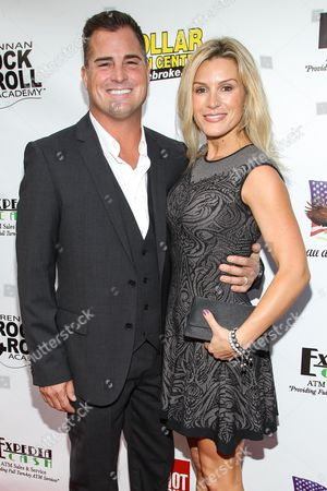 """Actor George Eads and wife Monika Casey arrive at the premiere of """"Gutshot Straight"""" on in Los Angeles"""