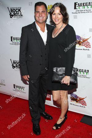 """Actors George Eads and Jorja Fox arrive at the premiere of """"Gutshot Straight"""" on in Los Angeles"""