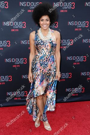 "Stock Image of Amaris Davidson arrives at the LA Premiere Of ""Insidious: Chapter 3"" held at TCL Chinese Theatre, in Los Angeles"