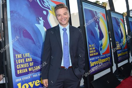 "Brett Davern arrives at the LA Premiere Of ""Love & Mercy"" at the Samuel Goldwyn Theater, in Beverly Hills, Calif"