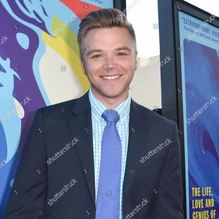 """Brett Davern arrives at the LA Premiere Of """"Love & Mercy"""" at the Samuel Goldwyn Theater, in Beverly Hills, Calif"""