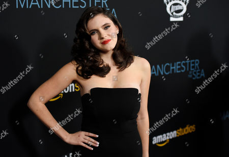 """Kara Hayward, a cast member in """"Manchester by the Sea,"""" poses at the premiere of the film at the Samuel Goldwyn Theater, in Beverly Hills, Calif"""