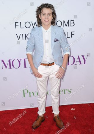 "Brandon Spink arrives at the Los Angeles premiere of ""Mother's Day"" at the TCL Chinese Theatre on"