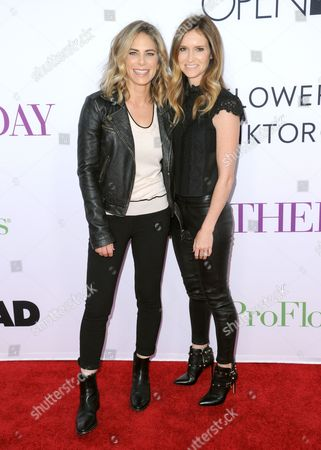 """Jillian Michaels, left, and Heidi Rhoades arrive at the Los Angeles premiere of """"Mother's Day"""" at the TCL Chinese Theatre on"""