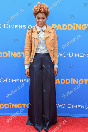 Sonjia Williams arrives arrives at the Los Angeles Premiere of Paddington at the TCL Chinese Theatre, in Los Angeles