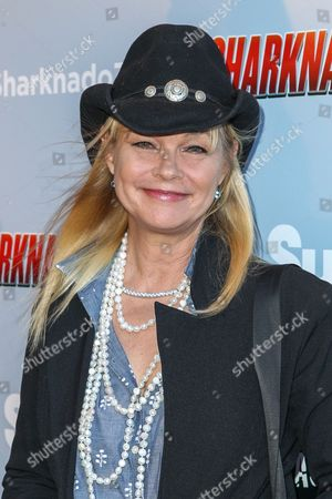 """Stock Image of Julie McCullough attends the """"Sharknado 3: Oh Hell No!"""" premiere at iPic Theaters Westwood on in Los Angeles"""