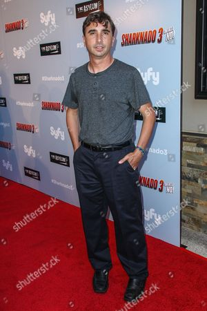 "Director Anthony C. Ferrante attends the ""Sharknado 3: Oh Hell No!"" premiere at iPic Theaters Westwood on in Los Angeles"