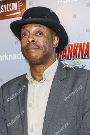 """Stock Image of Michael Winslow attends the """"Sharknado 3: Oh Hell No!"""" premiere at iPic Theaters Westwood on in Los Angeles"""
