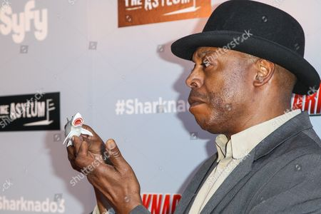 """Michael Winslow attends the """"Sharknado 3: Oh Hell No!"""" premiere at iPic Theaters Westwood on in Los Angeles"""