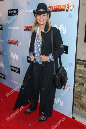 """Stock Picture of Julie McCullough attends the """"Sharknado 3: Oh Hell No!"""" premiere at iPic Theaters Westwood on in Los Angeles"""