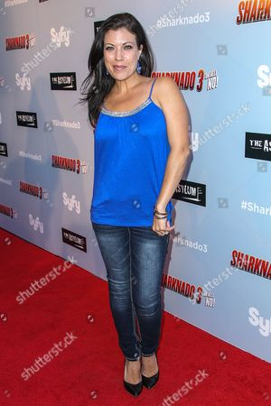 """Tiffany Shepis attends the """"Sharknado 3: Oh Hell No!"""" premiere at iPic Theaters Westwood on in Los Angeles"""