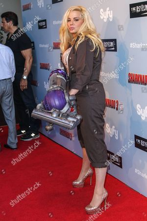 """Cindy Margolis attends the """"Sharknado 3: Oh Hell No!"""" premiere at iPic Theaters Westwood on in Los Angeles"""