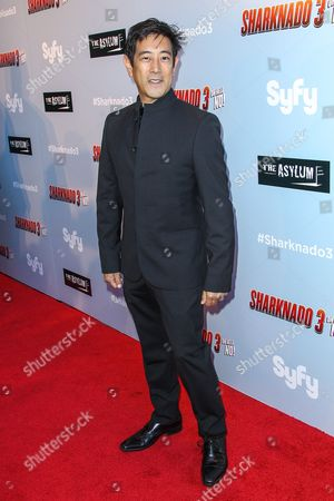 "Grant Imahara attends the ""Sharknado 3: Oh Hell No!"" premiere at iPic Theaters Westwood on in Los Angeles"