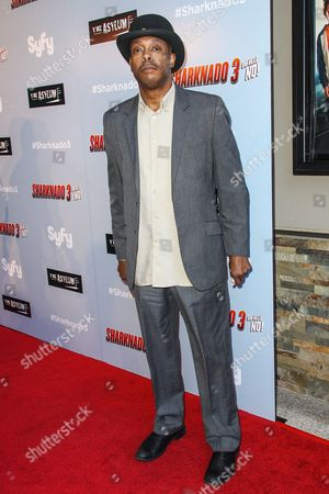 """Stock Photo of Michael Winslow attends the """"Sharknado 3: Oh Hell No!"""" premiere at iPic Theaters Westwood on in Los Angeles"""
