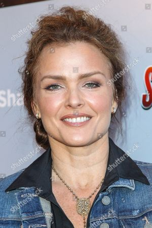 """Dina Meyer attends the """"Sharknado 3: Oh Hell No!"""" premiere at iPic Theaters Westwood on in Los Angeles"""