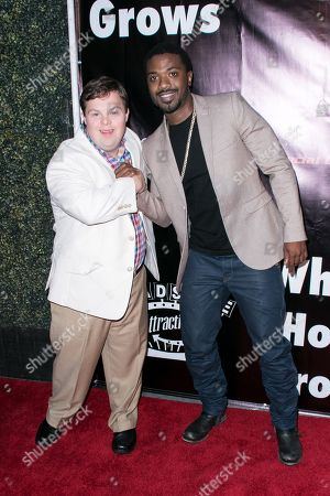 "David DeSanctis, left, and Ray J arrive at the LA Premiere of ""Where Hope Grows"" held at Arclight Cinemas Hollywood on in Los Angeles"