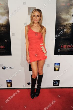 "Paula LaBaredas arrives at the LA premiere of ""A Resurrection"" at the ArcLight Cinemas on in Los Angeles"