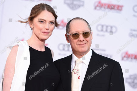"Stock Photo of Leslie Stefanson, left, and James Spader arrive at the Los Angeles premiere of ""Avengers: Age Of Ultron"" at the Dolby Theatre on"