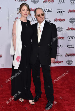 "Stock Picture of Leslie Stefanson, left, and James Spader arrive at the Los Angeles premiere of ""Avengers: Age Of Ultron"" at the Dolby Theatre on"