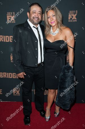 """Alejandro Patino arrives at the LA Premiere Screening of """"The Bridge"""", in West Hollywood, Calif"""