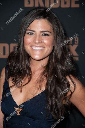 """Stock Image of Karen Sours arrives at the LA Premiere Screening of """"The Bridge"""", in West Hollywood, Calif"""
