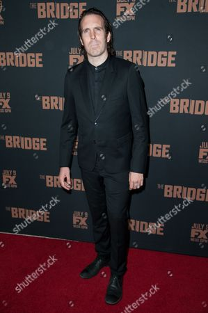 """Thomas M. Wright arrives at the LA Premiere Screening of """"The Bridge"""", in West Hollywood, Calif"""