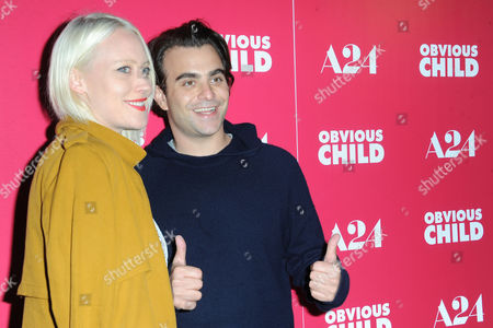 Stock Photo of Nick Jarecki, at right, and Annette Nyseth arrive at the LA Special Screening of Obvious Child at The Arclight Theater, in Los Angeles