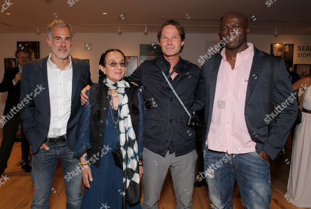 Photographers Yariv Milchan, Mary Ellen Mark, Leica Director of Sales Steffen Keil and Seal attend the Leica Los Angeles Grand Opening, on Thursday, June, 20, 2013 in West Hollywood, California