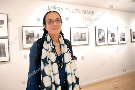 Photographer Mary Ellen Mark attends the Leica Los Angeles Grand Opening, on in West Hollywood, California