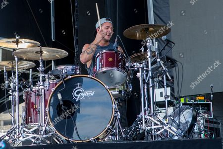 Drummer Louis Vecchio of New Politics performs during the Life is Beautiful festival on in Las Vegas