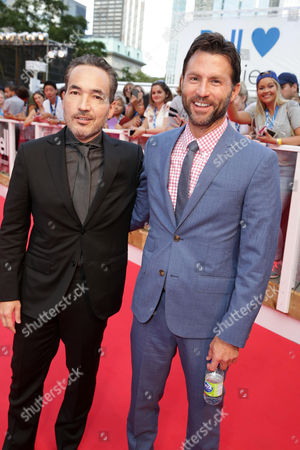 "Composer Steve Jablonsky and Executive Producer Jonathan King seen at Lionsgate's ""Deepwater Horizon"" premiere at the 2016 Toronto International Festival, in Toronto"