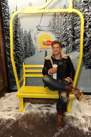 Stock Picture of Actor Duncan Penn takes a tea-break at the Lipton Uplift Lounge amidst the hustle and bustle of Sundance, in Park City, UT